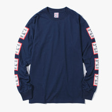[Have a good time] FW17 Arm Frame L/S Tee - Navy