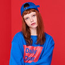 [DxDxD Studio]DAILY BOX SWEAT SHIRT - BLUE