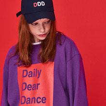 [DxDxD Studio]DAILY BOX SWEAT SHIRT - PURPLE