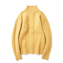 [14%할인] [파르티멘토]Heavy Lambswool Cable Knit Mustard