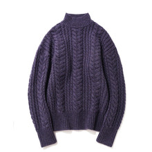 [14%할인] [파르티멘토]Heavy Lambswool Cable Knit Purple