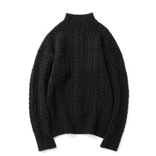 [14%할인] [파르티멘토]Heavy Lambswool Cable Knit Black