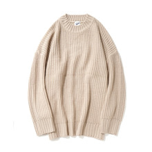 [12%할인] [파르티멘토]Over Crew Neck Knit Beige