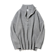[파르티멘토]Zip Turtle Neck Knit Gray