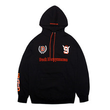[DUCKDIVE]FOOTBALL HOODIE- BLACK