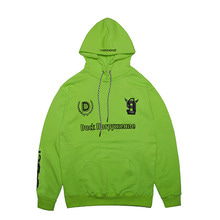 [DUCKDIVE]FOOTBALL HOODIE- GREEN