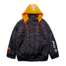 [10/17 예약 발송 DUCKDIVE]CUT HOODIE JK_BLACK+ORANGE