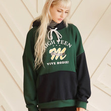 [MAUVE] HIGHTEEN COLOR HOODIE (green)