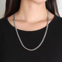 [RUSHOFF] [Unisex] Addictive Silver Chain Necklace (Surgical Steel)/ 에딕티브 실버체인 목걸이