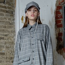 [ 30% SALE ][ 아이디픽스스위치 ] BERLIN CHECK SHIRT - GREY
