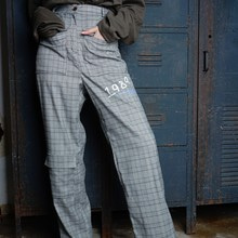 [ 30% SALE ][ 아이디픽스스위치 ] BERLIN CHECK PANTS - GREY