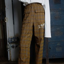 [IDEEFIXESWITCH]BERLIN CHECK PANTS - CAMEL