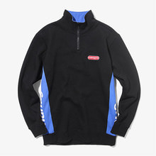 [MAHAGRID] SIDE LOGO HALF ZIP ANORAK BLACK