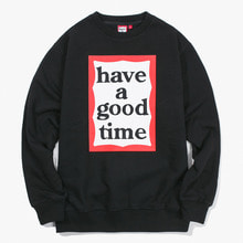 [Have a good time] FW17 Frame Crewneck - Black