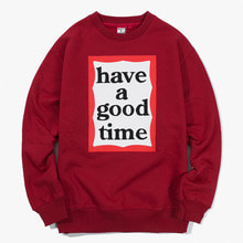 [Have a good time] FW17 Frame Crewneck - Burgundy
