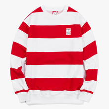 [Have a good time] FW17 Stripe Crewneck - Red/White