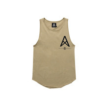 [011]  Long Tank Top (beige)
