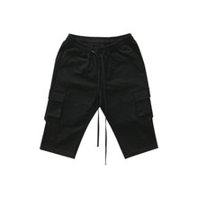 [011] Strap Pocket Shorts (black)