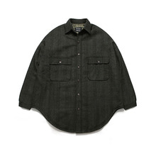 [10/20일 예약발송][16% 할인][LAFUDGESTORE] (Unisex) Melton Shirt Coat_Check