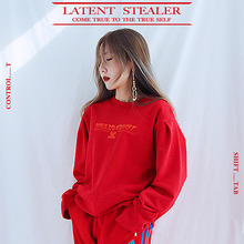 [MEZZO KUNST] PUFF SWEAT SHIRT - RED