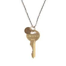 [AGINGCCC]#164  CHICAGO KEY NECKLACE