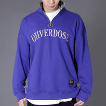 [OHVERDOSE]CAMO POINT ANORAK PULLOVER PURPLE