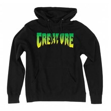 [Creature] Logo L/S Pullover Hooded Sweatshirt - Black