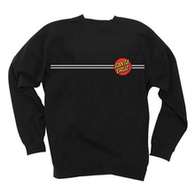 [Santa Cruz] Classic Dot Crew Neck L/S Sweatshirt - Black