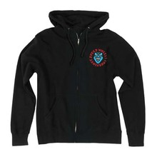[Santa Cruz] Screaming Hand Hooded Zip L/S - Black