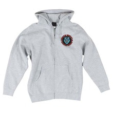 [Santa Cruz] Screaming Hand Hooded Zip L/S - Grey