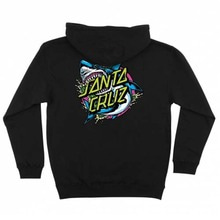 [Santa Cruz] Shark Dot Pullover Hooded L/S Sweatshirt - Black