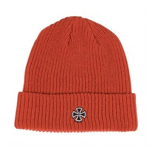[INDEPENDENT] Cross Ribbed Long Shoreman Beanie Hat - Tomato