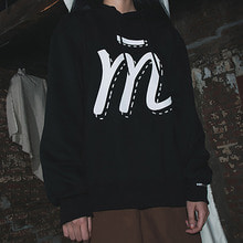 [MUTEMENT]BLACK M LOGO FLEECE HOODIE
