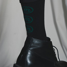 [MUTEMENT]BLACK LOGO SOCKS