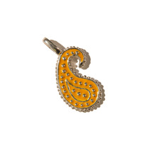 [KRUCHI] Paisley dot pendant (yellow)