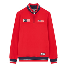 [STARTER] USA Sweat Half Zip - Red