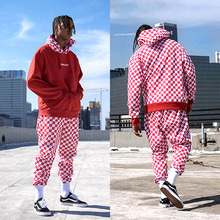 [30%OFF] [Buried Alive] Full Checkers Sweat Pants Red