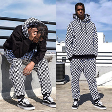 [30%OFF] [Buried Alive] Full Checkers Sweat Pants Black
