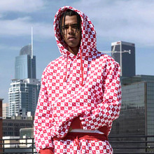 [30%OFF] [Buried Alive] Full Checkers Hoodie Red