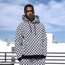 [30%OFF] [Buried Alive]  Full Checkers Hoodie Black