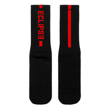 [NYPM] ECLIPSE SOCKS (BLK-RED)