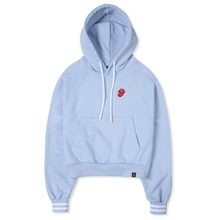 [Bravado]THE ROLLING STONES CLASSIC TONGUE CROP HOODIE BLUE