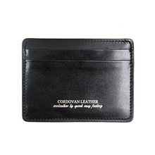 [AGINGCCC]213# X CARD WALLET-BLACK CORDOVAN