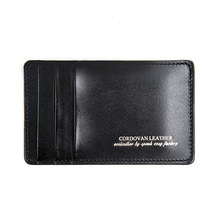 [AGINGCCC]214# Y CARD WALLET-BLACK CORDOVAN