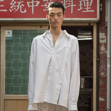 [XYZ] UNISEX Open Shirts - White