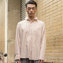 [XYZ] UNISEX Two Way Draped Shirts - Pink