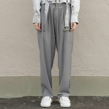 [XYZ] UNISEX Wide Slacks - Grey