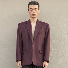 [XYZ][Order Made] UNISEX Over Fit Blazer - Purple