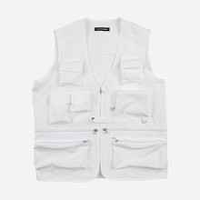 [GRAND BATTEMENT]BACKSTAGE UTILITY vest white