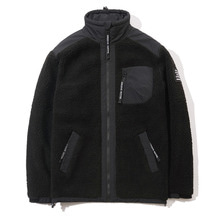[GROOVERHYME] 2017 RETRO FLEECE ZIP-UP (BLACK) [GFZ020F43BK]